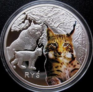 POLAND - 2009 SYMBOLS OF NATURE LYNX LYNX - PROOF COLOR - SILVER - <span itemprop='availableAtOrFrom'>Bielsko-Biala, Polska</span> - POLAND - 2009 SYMBOLS OF NATURE LYNX LYNX - PROOF COLOR - SILVER - Bielsko-Biala, Polska