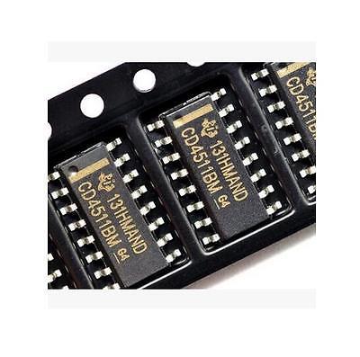 10pcs Smd Cd4511 Cd4511bm Bcd-to-7 Segment Latch Decoder Driver Sop-16