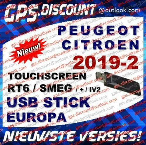 ≥ Navigatie Update 2019-2 RT6 USB Citroen Peugeot eMyWay SMEG