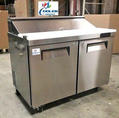 New 48 Commercial Sandwich Prep Table Refrigerator W 12 Storage Bins Nsf Etl