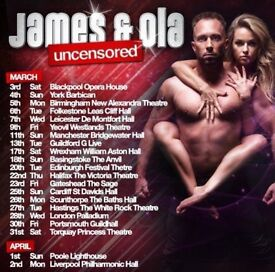 James and Ola Tickets Manchester 11th March Bridgewater Hall