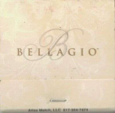 BELLAGIO-LAS VEGAS,NEVADA- MATCHBOOK-TWO INCHES WIDTH-FULL
