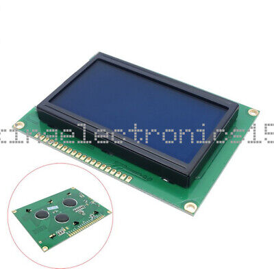Dc 5v 12864 Lcd Display Module 128x64 Dots Graphic Matrix Blue Lcd Backlight