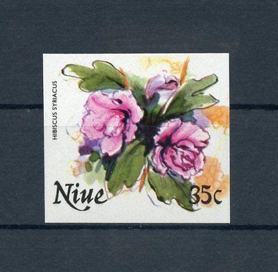NIUE Nr.396U ** UNGEZÄHNT 35C. Blüten 1981 !!! (112039)