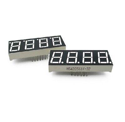 50 Pcs 0.56 Inch 4 Digit Red Led Display 7 Segment Common Cathode New