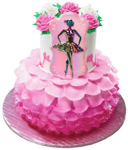 Ballerina plaque cake topper decoration party supplies for Ballerina cake decoration