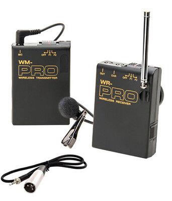 Pro Ag Af100a Wlm Xlr M Wireless Lavalier Mic For Panason...