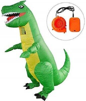 Dinosaur Dress Up Costume (Green Dinosaur Inflatable Costume Dinosaur Suit Adult Blow Up)