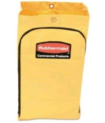 Rubbermaid 21 Gal. Zippered Vinyl Cleaning Cart Bag Yellow 6183yel New