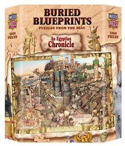 MASTERPIECES-BURIED-BLUEPRINTS-JIGSAW-PUZZLE-EGYPTIAN-CHRONICALS-AL-LORENZ-1000