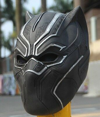 BLACK  PANTHER MOVIE 3D Mask ADULT Size Replica For Cosplay