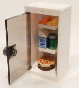 NEW LEGO WHITE FRIDGE kitchen food pizza milk refrigerator minifig minifigure