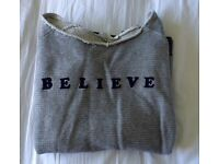Mango MNG Believe sweatshirt stripe logo jumper sweater