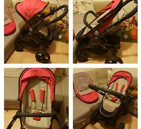 Icandy peach 3 w/ foot muff, cup holder, rain cover - Collection only.