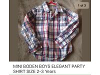 MINI BODEN KIDS BOYS SHIRT 2-3 Years