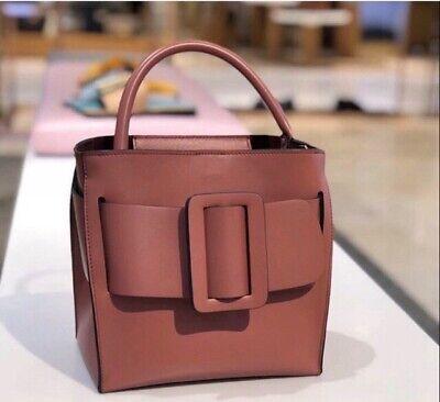 NIB BOYY 'Devon 21' Pink Indian Red Brown Karl Bobby Fred Bucket Crossbody Bag
