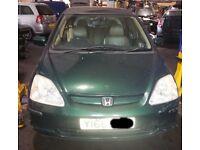 Honda Civic Bonnet In Green Colour (2001)