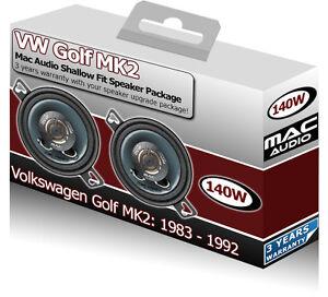 VW Golf MK2 Front Dash speakers Mac Audio 3.5