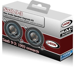 Saab 9.3 93 Dash Speakers Mac Audio 3.5