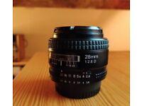 Nikon F 28mm:2.8 lens