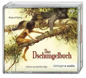 Rudyard-Kipling-034-DAS-DSCHUNGELBUCH-034-4-CD-NEU-Oetinger-Audio