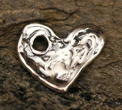 One Dangle Heart in Sterling Silver -21s
