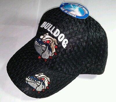 BULLDOG BULL DOG TEXTURE BLACK BLK ADJUSTABLE CAR BASEBALL CAP HAT
