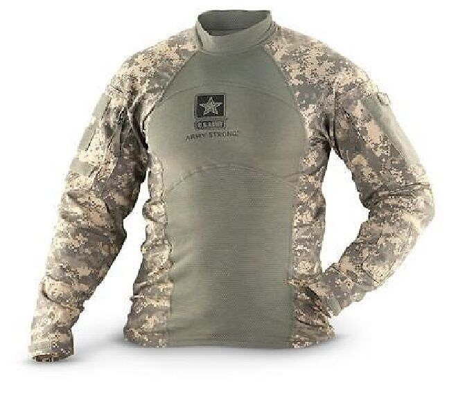 MASSIF FLAME RESISTANT FR Army Combat Shirt ACU ACS w Army Strong Logo All Sizes