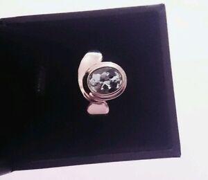 Sogni D'Oro Silberzeit Ring 925 Sterling Silber großer Aquamarin RW 18