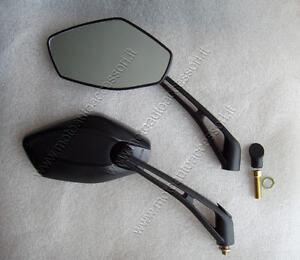 2 specchietti specchi moto omologati specchio 10 mm - Specchi moto omologati ...