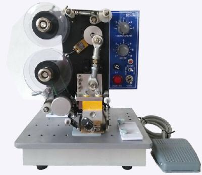 220v Semi-automatic Electric Coding Printer Machine Hot Stamp Ribbon Coding
