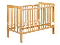John Lewis ERIC solid wood pine cot (in original box) & JL mattress & changing mat