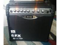 Line 6 Spider II 15 watt Guitar Amp (Part or repair)