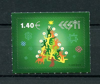Estonia 2016 MNH Christmas Tree Trees 1v S/A Set Stamps