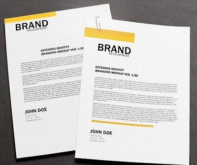 Professional Bespoke Custom Letterhead Design  - Unlimited Revisions 24HR