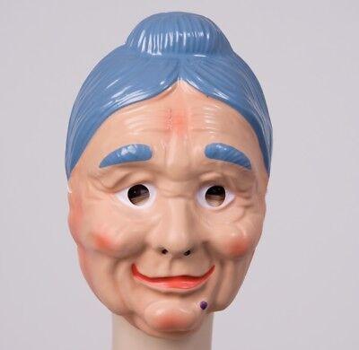 FM - Gesichtsmaske alte Frau Maske Oma Karneval Fasching Halloween