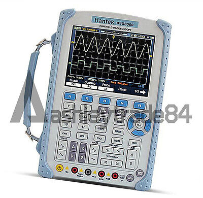 1pcs New Hantek Dso8060 60mhz 5-in-1 Handheld Oscilloscope Multimeter
