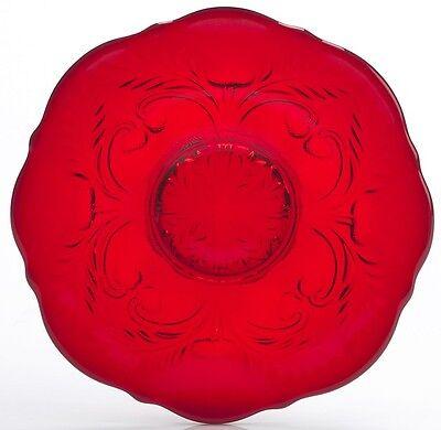 Dessert Plate - Inverted Thistle Pattern - Mosser USA - Red - Inverted Thistle Pattern