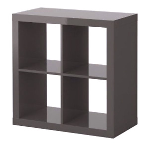 Ikea KALLAX Bookshelf x2 Brown-Black