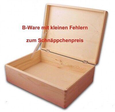 B-Ware, Aufbewahrungsbox, Holzkiste mit Deckel ohne Grifflöcher Kiefer Gr. 2