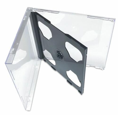 25 Standard Double CD Jewel Case - Black