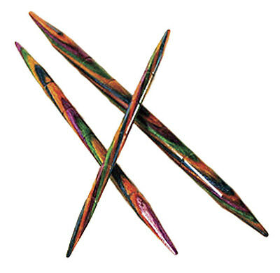 Knit 3 Needles - OPTIONS RAINBOW WOOD CABLE KNITTING NEEDLES by KNIT PICKS - 3 PER PACKAGE!