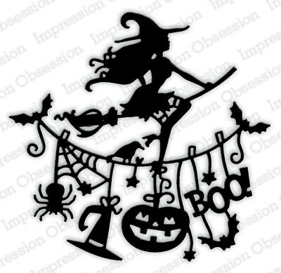 Witch Line Impression Obsession Io Stamps  Die592 Y  Halloween Steel Wafer Die