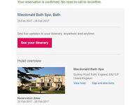 MacDonald Hotel & Spa Bath 25th february 1 Night