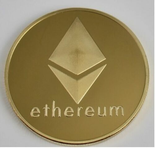 Ethereum Coin Commemorative Collectors Gold Plated ETH Coin
