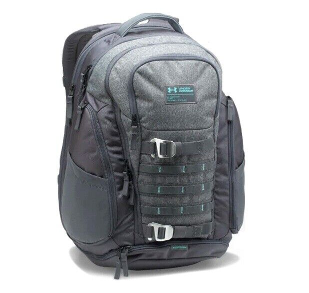 Under Armour Huey Backpack,Rhino Gray /Blue Infinity, One Si