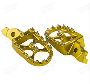 2005-2006-2007-2008-2009 Suzuki RM Z Gold over sized foot pegs