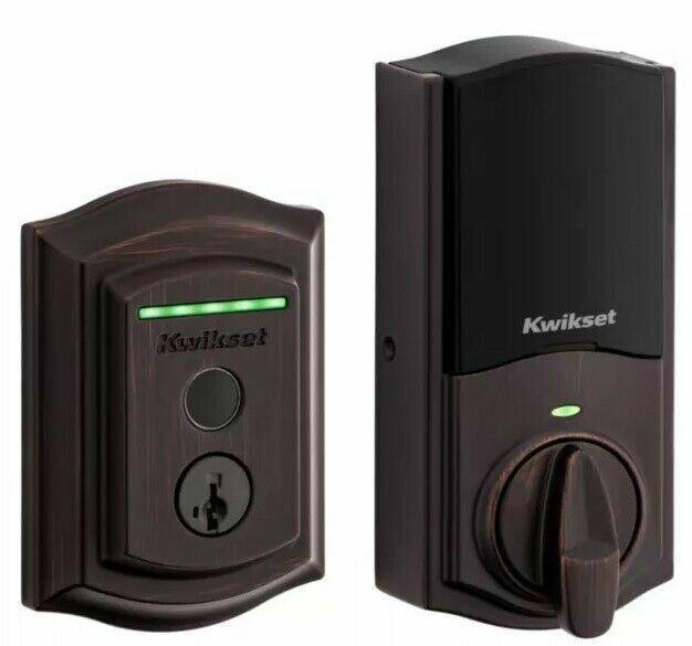 Kwikset 959TRLFPRT Halo Touch Traditional Fingerprint & WiFi Door Deadbolt