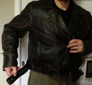 Chief Leather Motorcycle Jacket Size XXL
