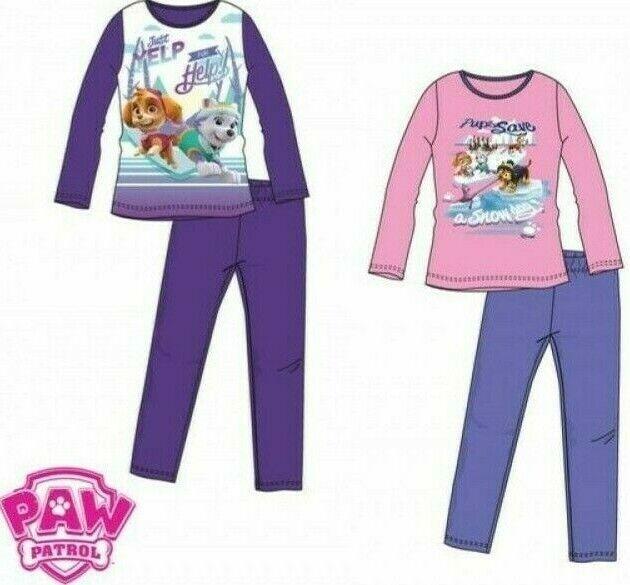 Paw Patrol Mädchen Schlafanzug Pyjama 98 104 110 116 Baumwolle